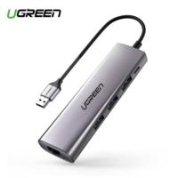 רכזת מפצל UGreen USB3 כולל מתאם RJ45